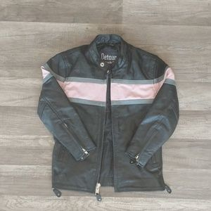 Pink detour motorcycle gear leather jacket M